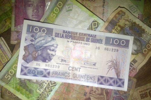 Article : Les billets de 100 francs guinéens